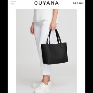 Cuyana // small leather tote with strap